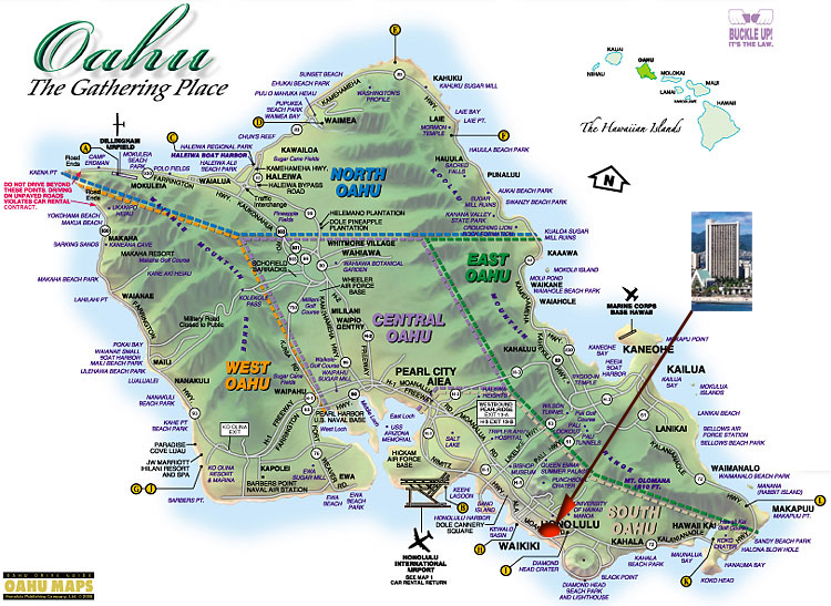 image regarding Oahu Map Printable identify IWSLT2008: Location